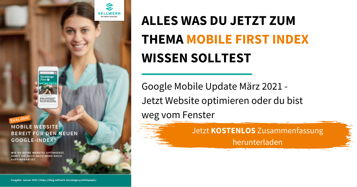 Whitepaper Mobile First Index: Tipps & Tricks für dein Onlinemarketing