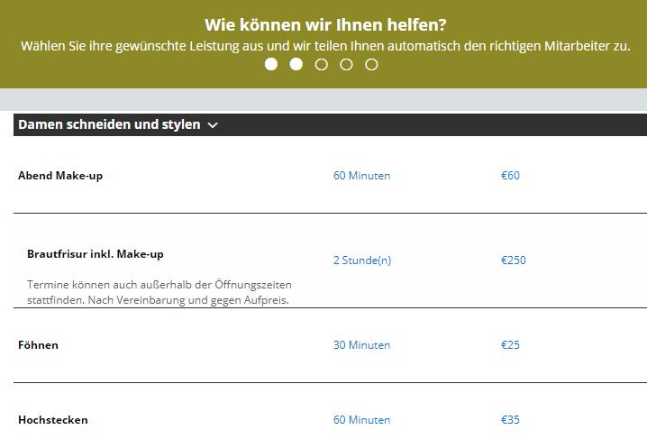 Online Terminkalender Angebote